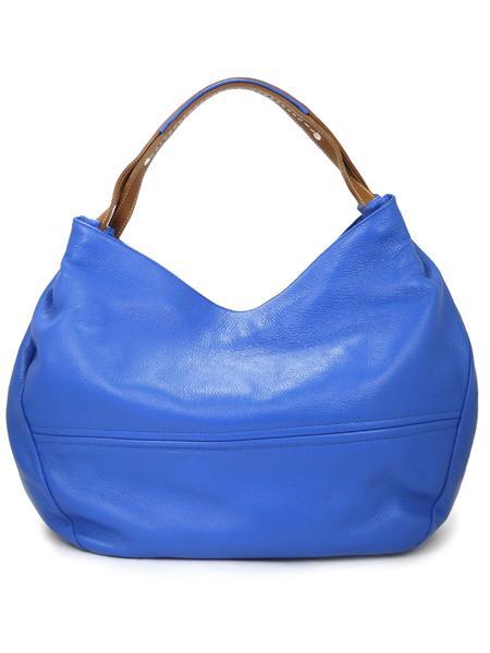 Ярко-голубая сумка из мягкой оленьей кожи итальянской марки PERGOLESI-781