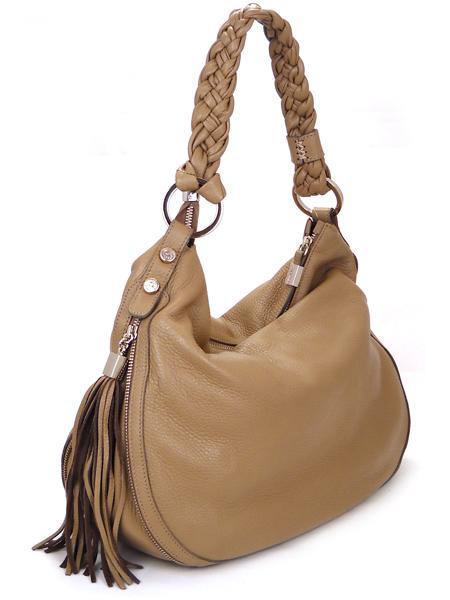 Кожаная сумка древесного цвета из оленьей кожи итальянской марки PERGOLESI-21654