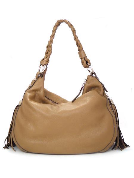 Кожаная сумка древесного цвета из оленьей кожи итальянской марки PERGOLESI-4432