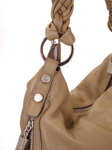 Кожаная сумка древесного цвета из оленьей кожи итальянской марки PERGOLESI-4433