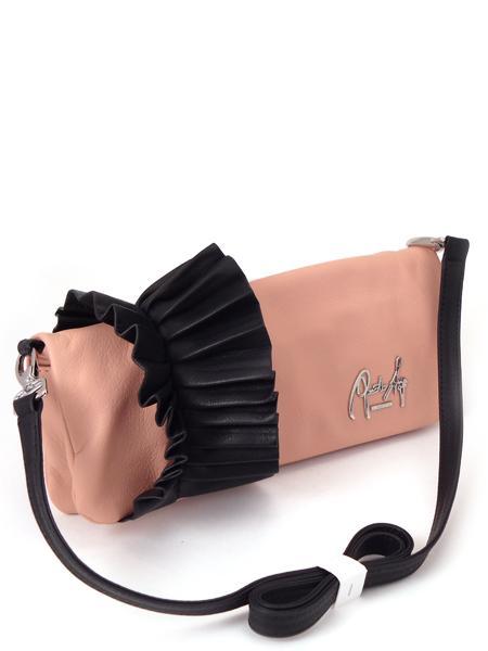 розовая сумочка клатч с черным манжетом