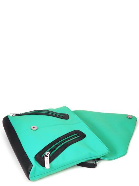 Кожаная сумка в стиле sport-fashion цвета бриллиантовой зелени RENATO ANGI -2299