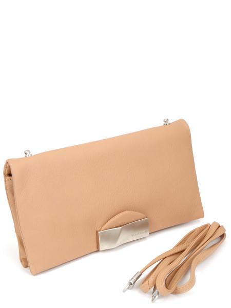 Темно-розовый кожаный клатч RENATO ANGI 333538152-0