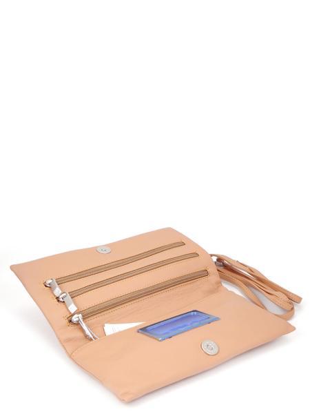 Темно-розовый кожаный клатч RENATO ANGI 333538152-2316
