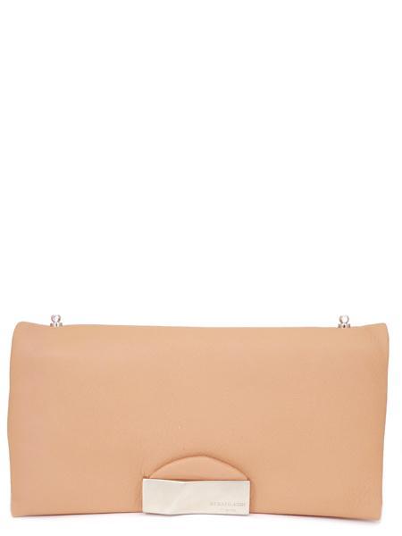 Темно-розовый кожаный клатч RENATO ANGI 333538152-2315