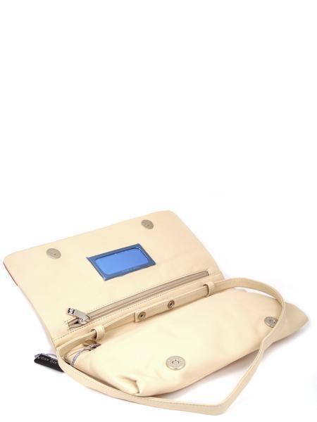 Клатч трехцветный кожаный с перстнем RENATO ANGI -2320