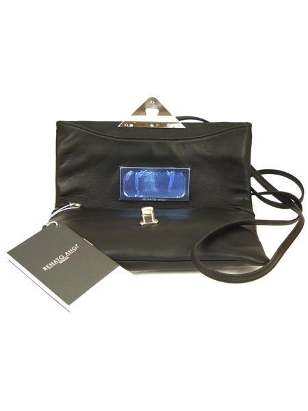 Сумка-клатч черного цвета на тонком ремешке RENATO ANGI 90-4530