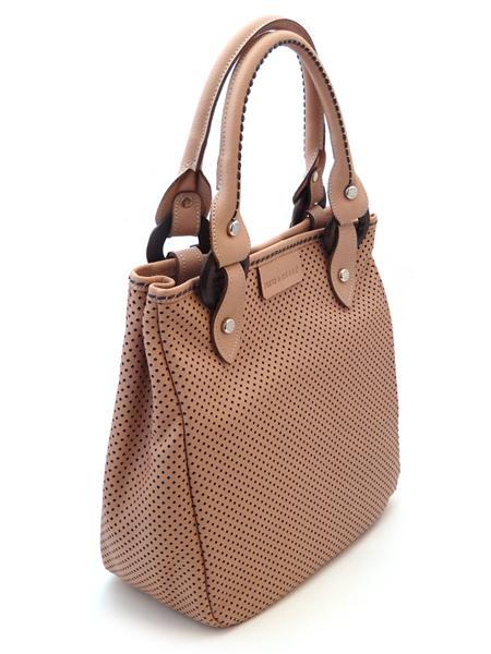 Дамская сумка темно-розового цвета итальянской марки PLINIO VISONA'-0
