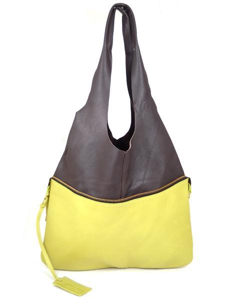 Сумка трансформер лимонного цвета с шоколадным MARCO MASI 2265-20872