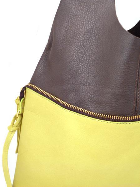 Сумка трансформер лимонного цвета с шоколадным MARCO MASI 2265-1695