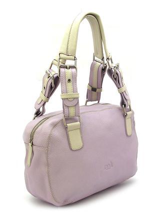 Сиреневая кожаная сумка с двумя ручками итальянской марки NOA -20961
