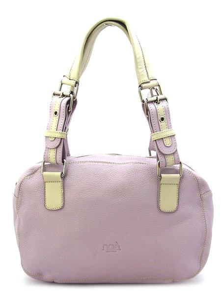 Сиреневая кожаная сумка с двумя ручками итальянской марки NOA -0