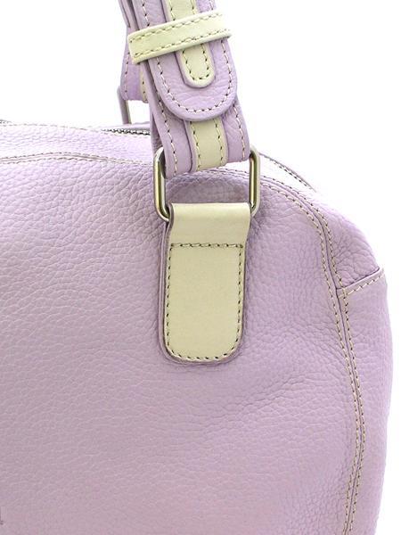 Сиреневая кожаная сумка с двумя ручками итальянской марки NOA -2034