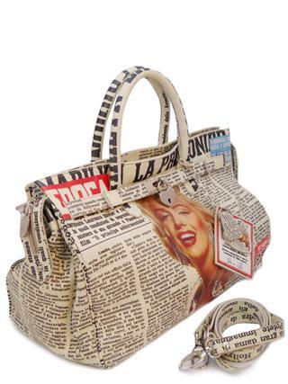 Дизайнерская сумка с принтом Мерилин Монро итальянской марки Massimo Trulli-0