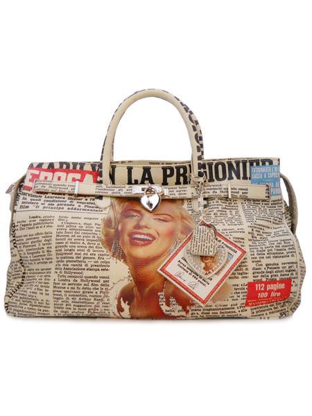 Дизайнерская сумка с принтом Мерилин Монро итальянской марки Massimo Trulli-5025