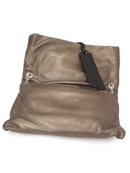 """Сумка клатч в виде """"книжки"""" из мягкой кожи темной бронзы итальянской марки GIANNI CHIARINI -2345"""