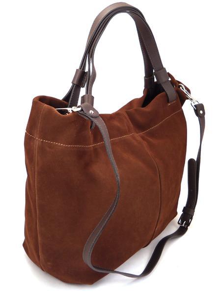 Замшевая сумка шоколадного цвета итальянской марки GIANNI CHIARINI-21411