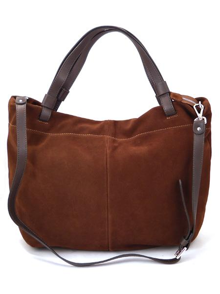 темно-коричневая замшевая сумка GIANNI CHIARINI